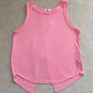 Old Navy Large Pink Peach Split Back Sleeveless